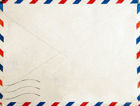 air mail: Old post envelope, background