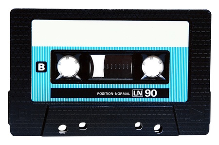 Compact cassette isolated on white photo