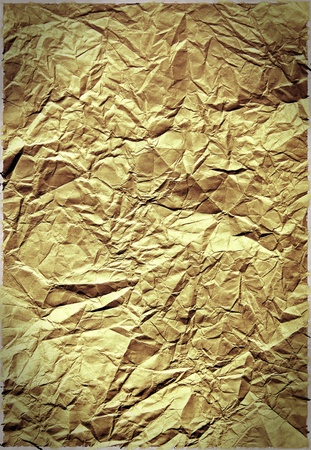 Old crumpled paper texture photo