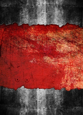 Underground grunge background, black and red color Stock Photo
