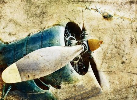 Grunge aircraft engine Stock Photo - 9995048