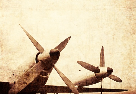 Vintage turboprop engines, military aircraft Stock Photo - 9995037