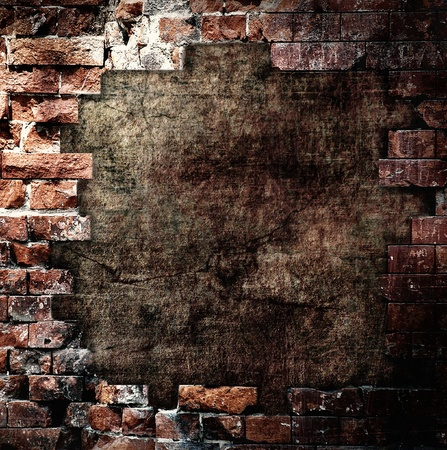 Damaged wall, grunge background