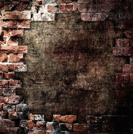 bombs: Damaged wall, grunge background