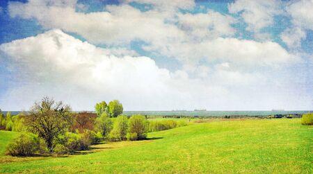 open country: Vintage landscape Stock Photo