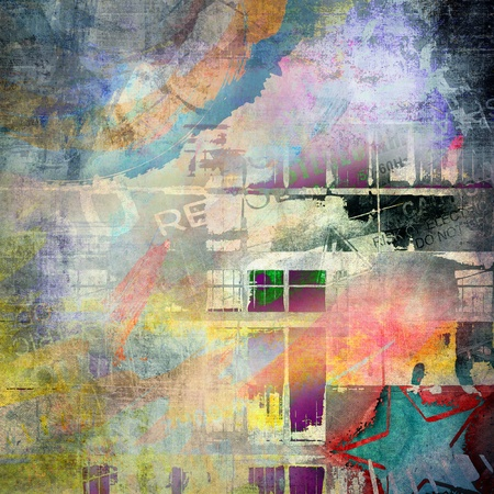 graffiti background: Abstract grunge background
