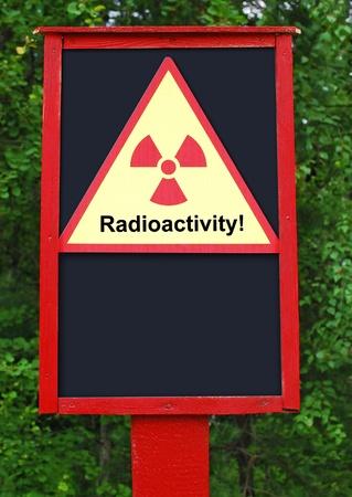 Radioactivity board Stock Photo - 10199475