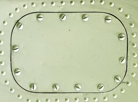 Metal plate with rivets, grunge riveted metal texture Stock Photo - 10763159