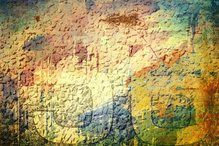 rusted: Underground grunge background, color surface Stock Photo