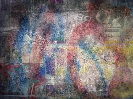 muro rotto: Grunge astratto sfondo