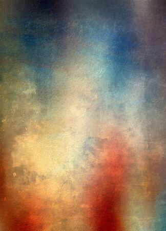 Grunge scratched background, blue and red color photo