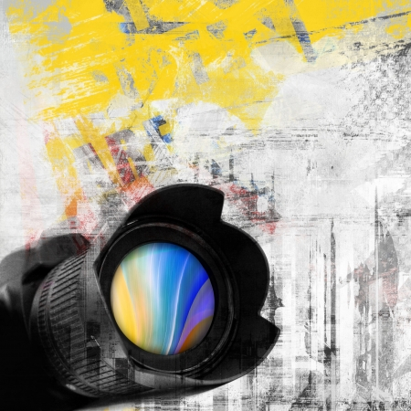 photo camera: Abstract grunge background, photo camera