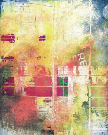 urban colors: Composici�n de color abstractos grunge