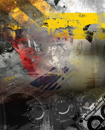 audiophile: Abstract music background Stock Photo