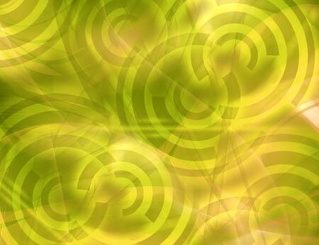 Green neon circles, abstract background photo
