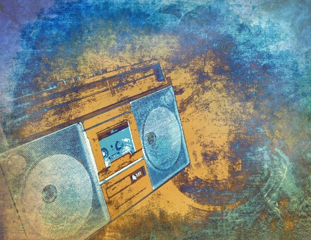 blue plaque: Abstract music background, grunge illustration