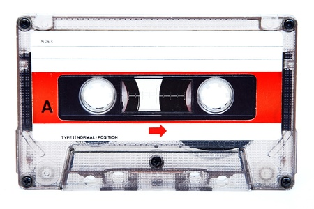 cassettes: Audio compact Cassette isolated on white