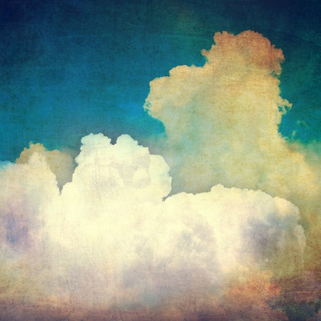 grunge layer: Vintage sky and clouds Stock Photo