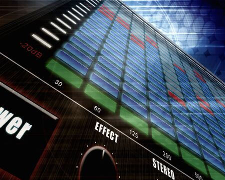 electric grid: Technology background, graphic equalizer Stock Photo