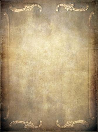 gebrannt: Altes Papier Textur