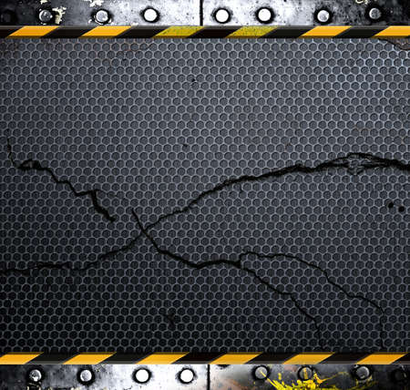 Industrial grunge background, cracked metal plate Stock Photo - 11019729
