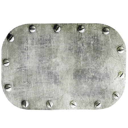 Metal plate isolated on white background