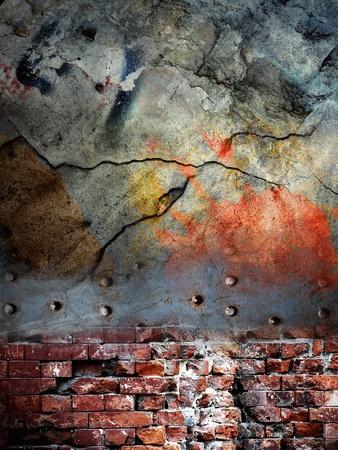 Cracked wall, grunge background Stock Photo - 11195335