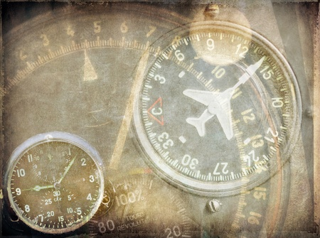 Aviation, vintage grunge background photo
