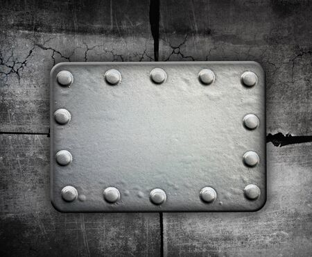 Industrial grunge background, metal plate with rivets Stock Photo - 11300207