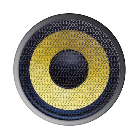 home audio: Audio speaker isolated on white background
