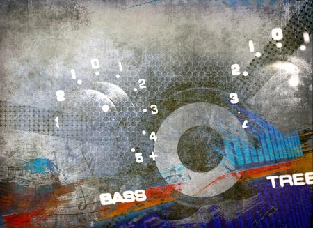 interesting music: Grunge musical background Stock Photo