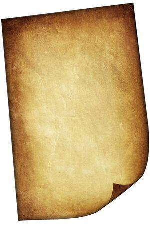 papel quemado: Textura de papel viejo aislado en el fondo blanco Foto de archivo