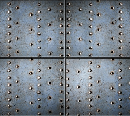 Metal texture with rivets photo
