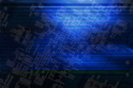 Abstract technology background, blue color photo