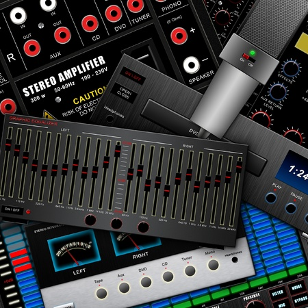 Musical background, audio equipment Stock Photo - 11570148