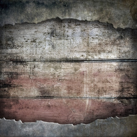 grungy background: Torn wooden background