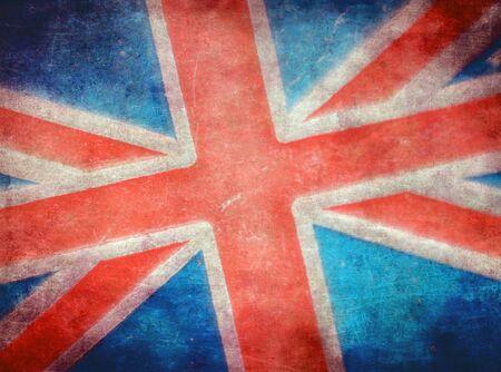 bandera inglaterra: Grunge bandera británica Foto de archivo