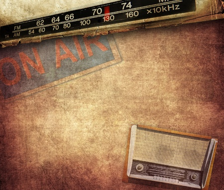 audiophile: Vintage radio composition Stock Photo