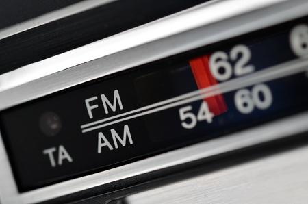 modulator: Radio station scale, tuning control panel close up