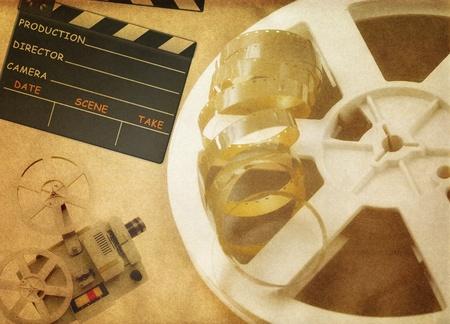 Roll film: Fondo de la pel�cula Vintage