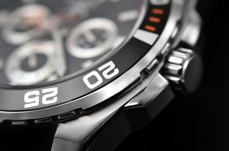 luxury man watch detail, chronograph close up Stock Photo - 12507499