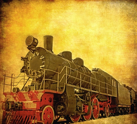 Old steam locomotive photo