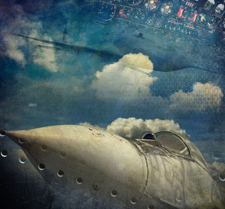 Aviation, grunge background photo