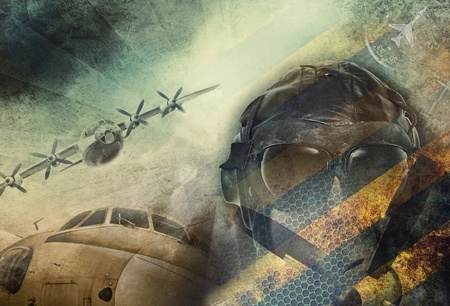 Vintage military grunge background photo