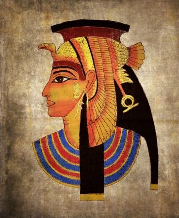 Old Egyptian papyrus, pharaoh Stock Photo