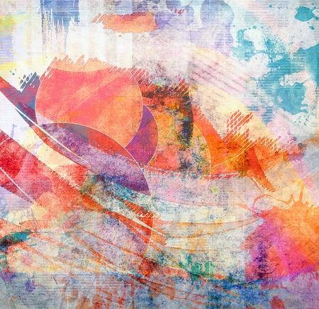 Art grunge illustration, color background illustration