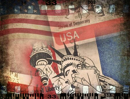 USA, grunge background photo