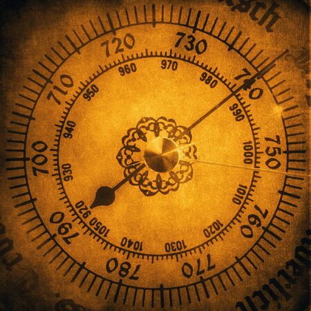 barometer: Old barometer vintage background Stock Photo