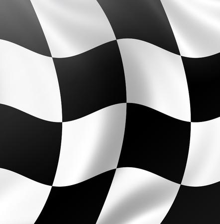 Racing flag, checkered racing flag photo