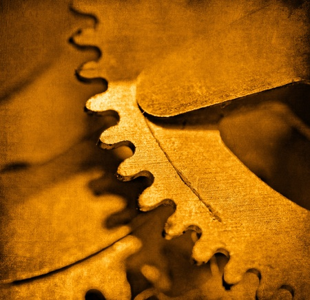 Mechanical gear, vintage background photo